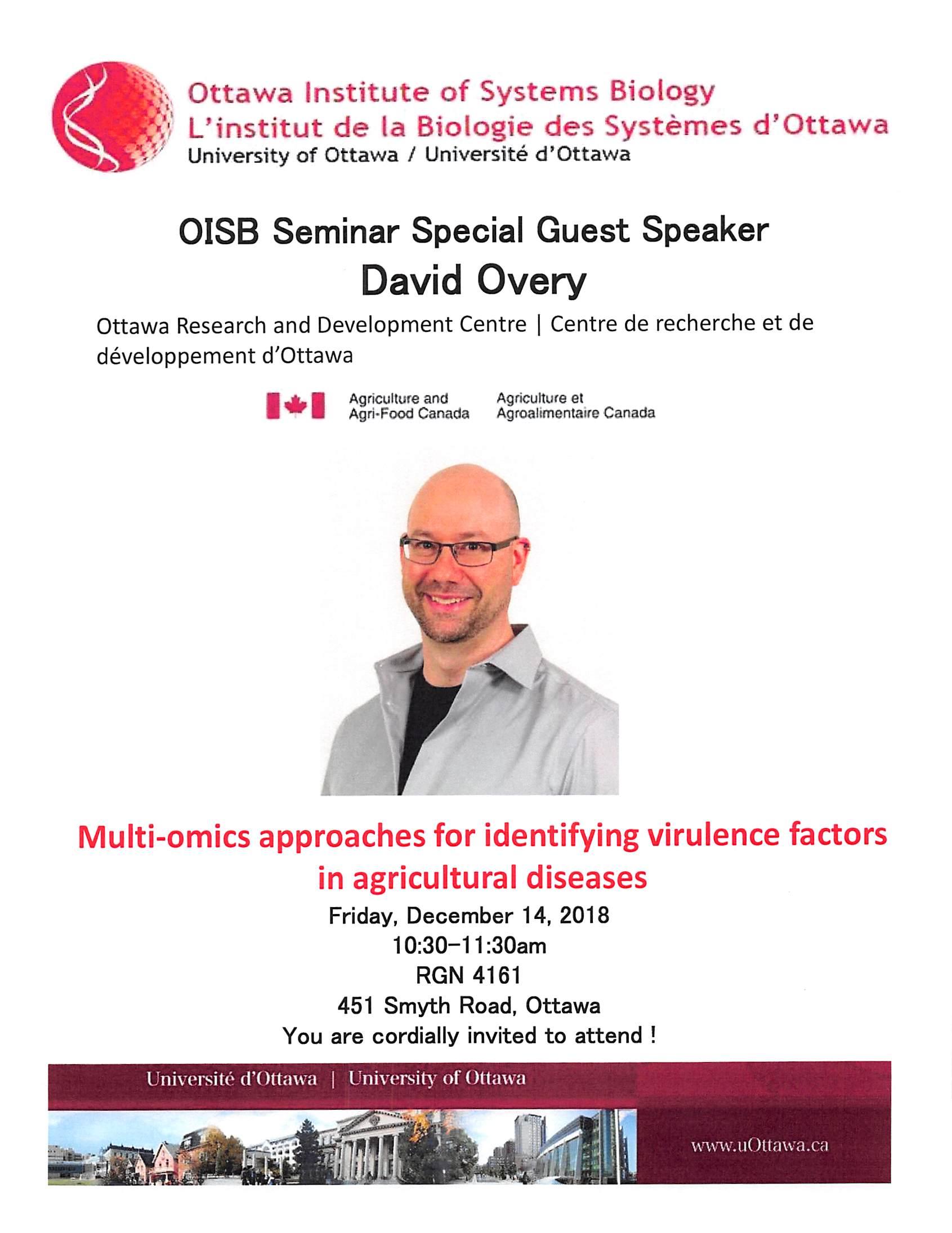 poster announcing seminar