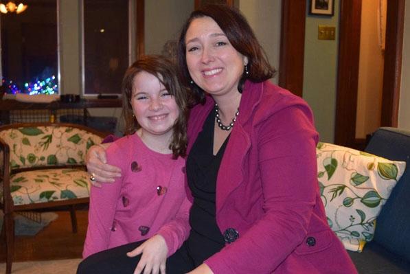 Kristin Baetz with daughter Isla