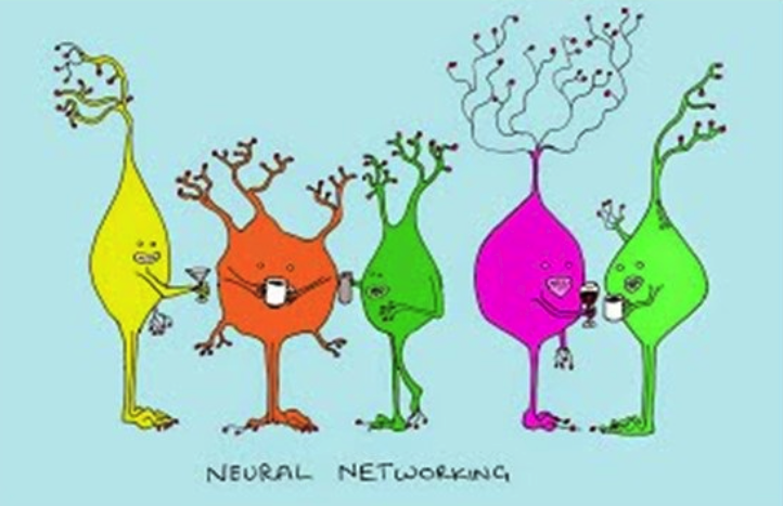 neural networking cartoon