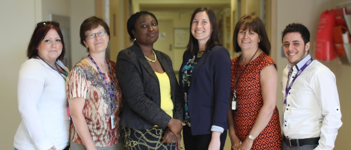 A group photo of the medical education support team