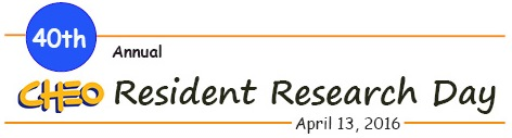 Information details for 2016 Resident Research Day