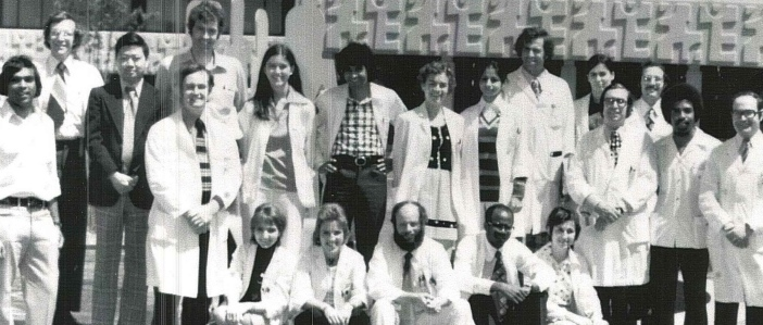 An old department photo of residents and physicians