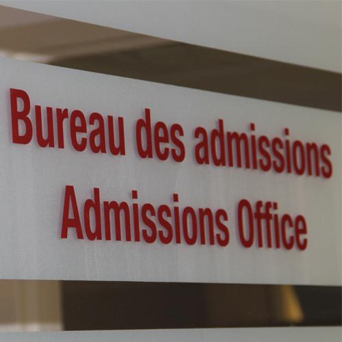 Bureau des admissions