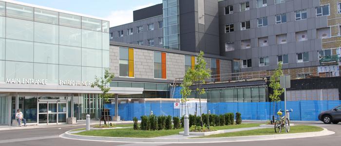 Entrée principale de l'hôpital