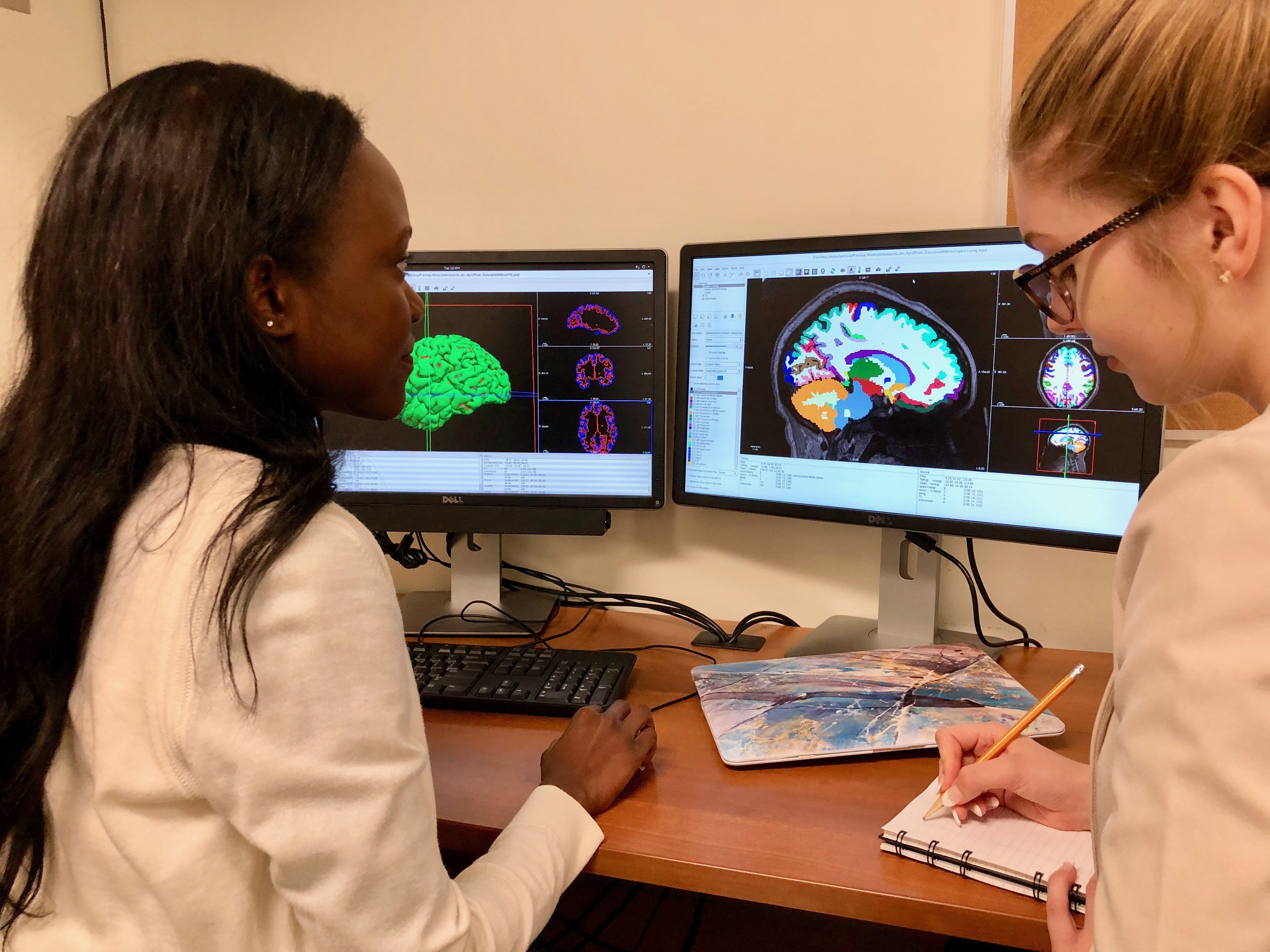 Graduate students processing data from structural Graduate students processing data from structural magnetic resonance imaging scans at the Royal's Brain Imaging Centremagnetic resonance imaging scans at the Royal's Brain Imaging Centre