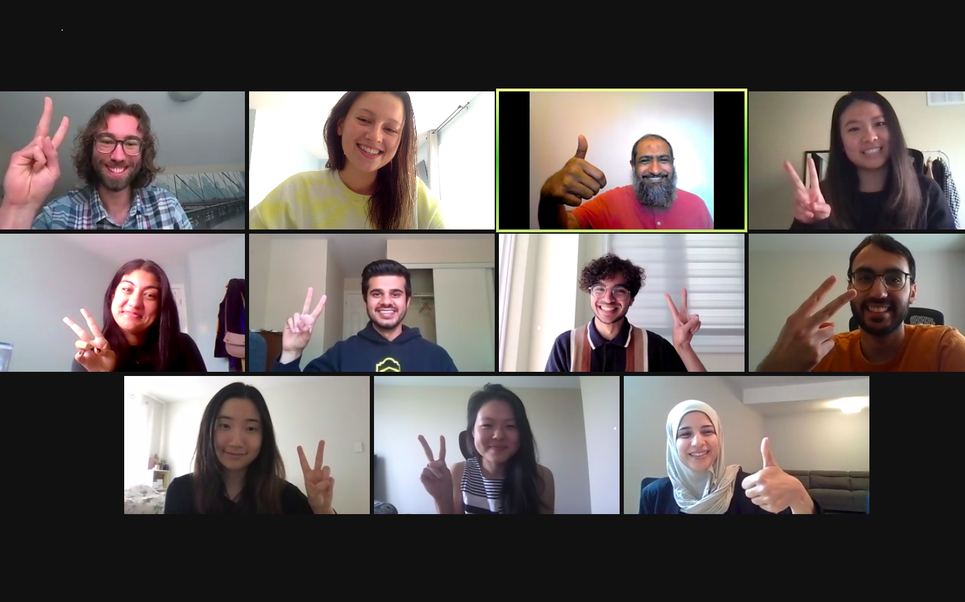 screenshot of the opep 2021 class in a zoom call