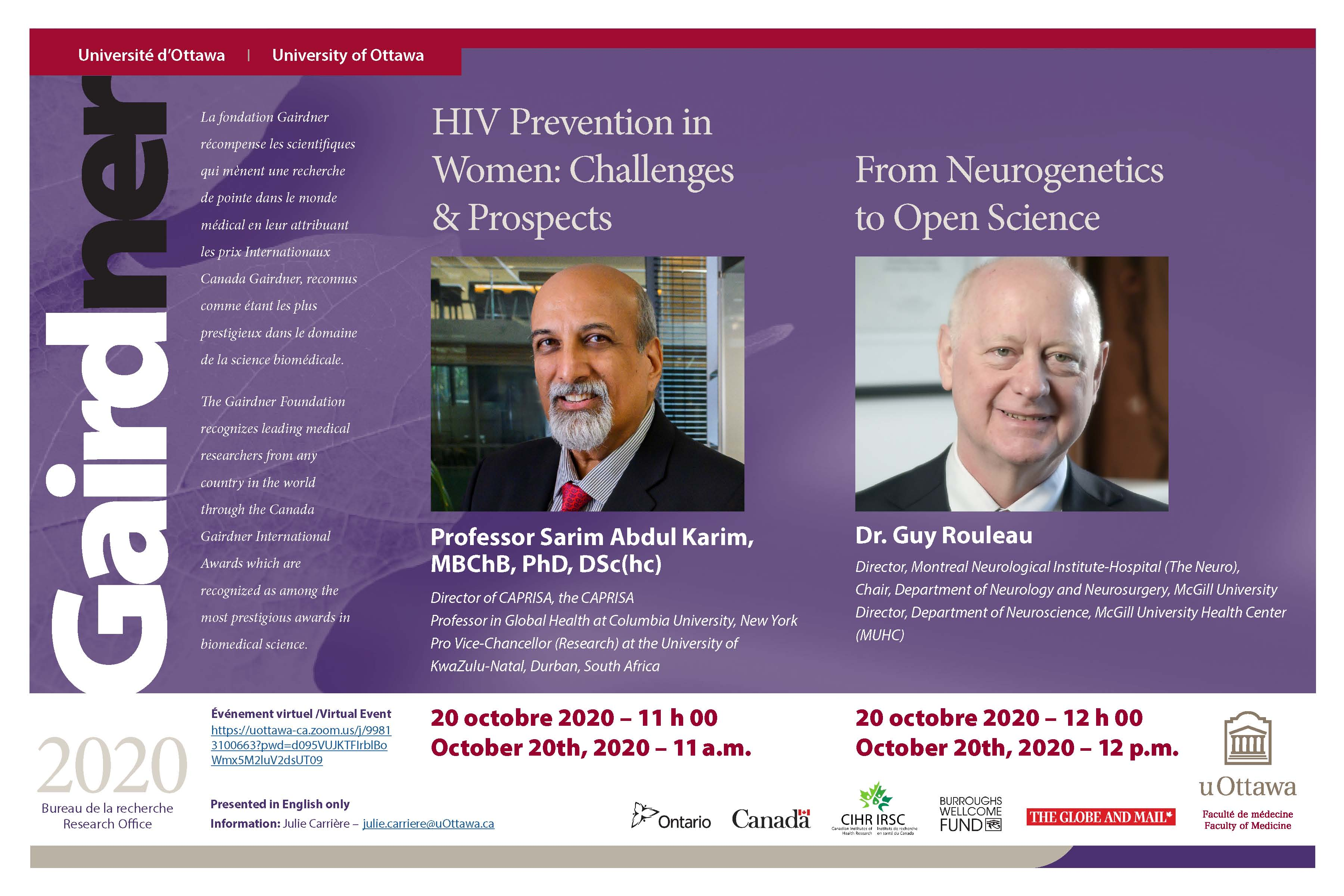 2020 gairdner lecture tuesday october 20