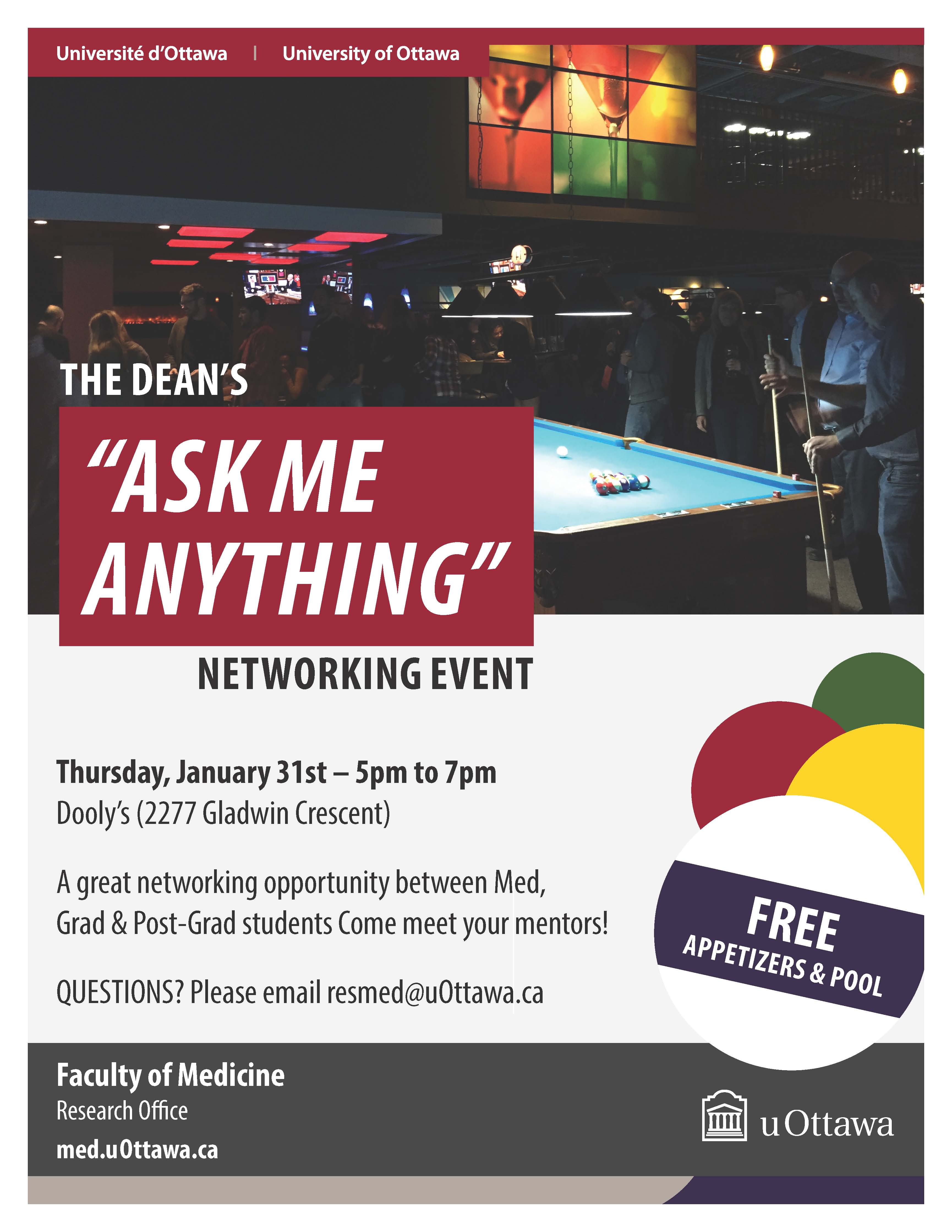 Dean pub night poster January 2019
