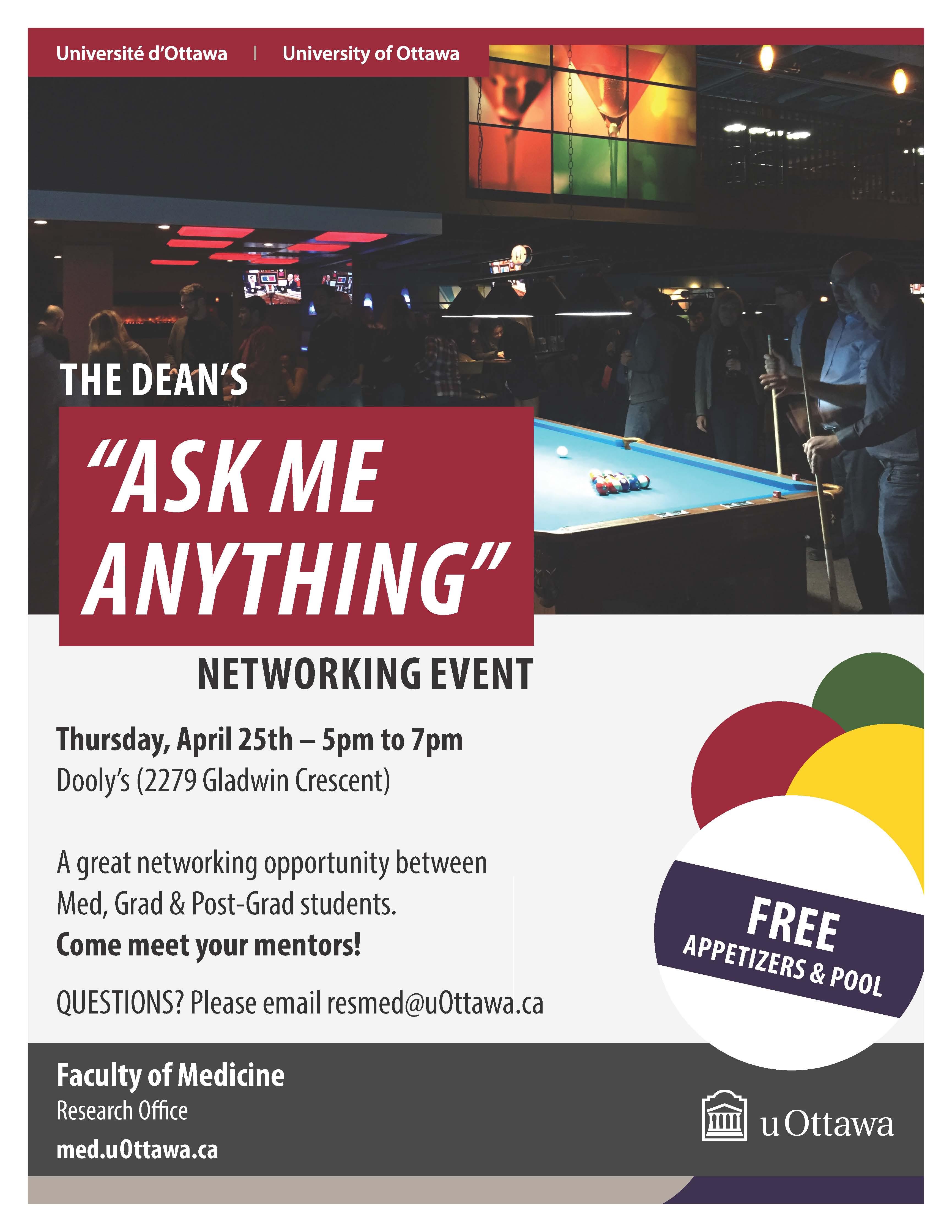 Dean pub night poster April 2019