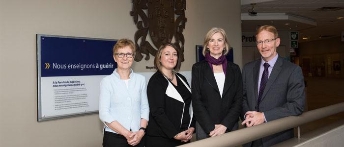 2016 Gairner lecture, Dr. Rossant, Dr. Baetz, Dr. Doudna (Speaker), Dr. Jasmin