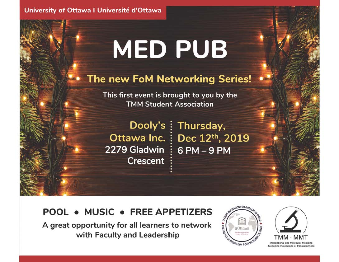 faculty of medicine pub night december 12 2019 at 6pm at dooly`s
