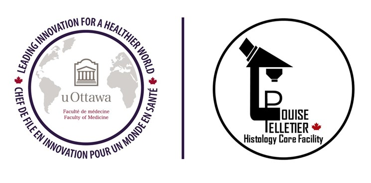 Louise Pelletier Histology Core Facility and uOttawa Logo