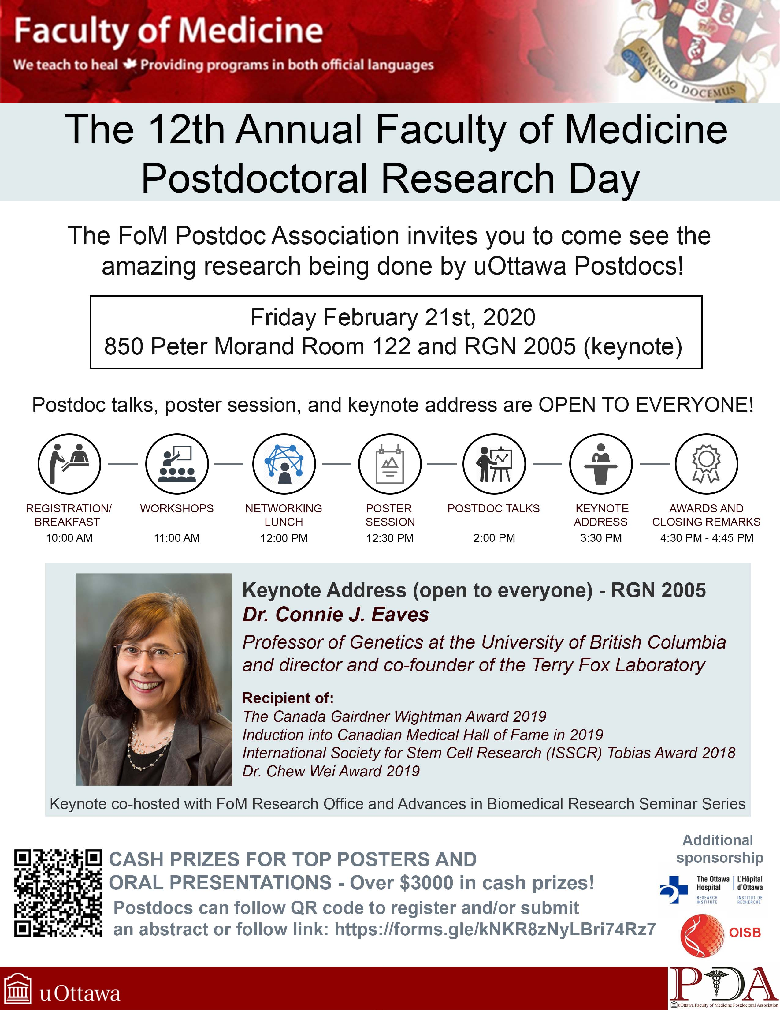 The 12th Annual Postdoctoral Research Day on February 21st