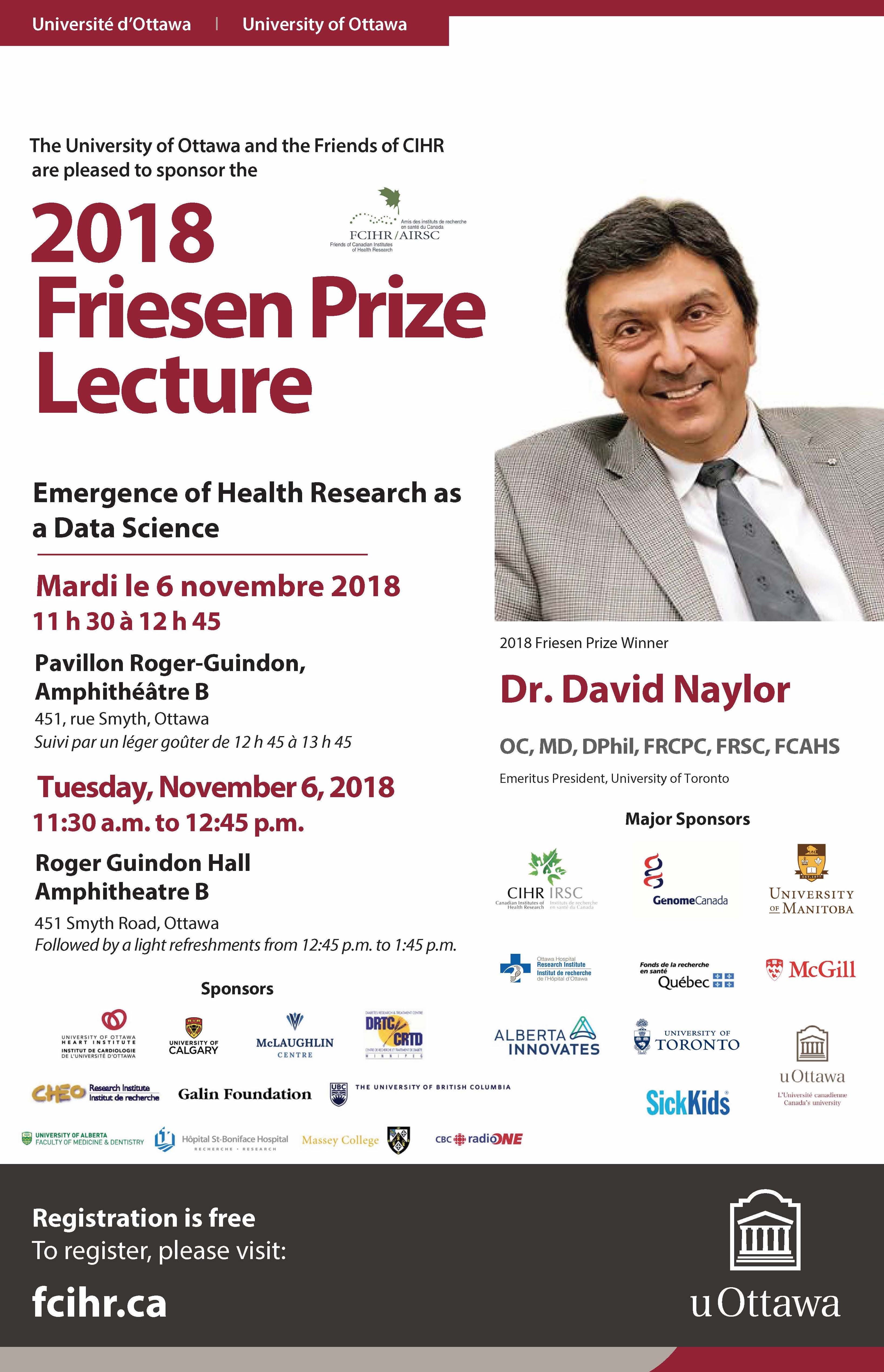 Poster Friesen Lecture November 6
