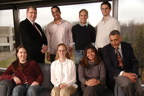 Dr. Arlington Dungy, far right bottom row, with former Dean Dr. Peter Walker and the first cohort of students from the Indigenous Program in 2006