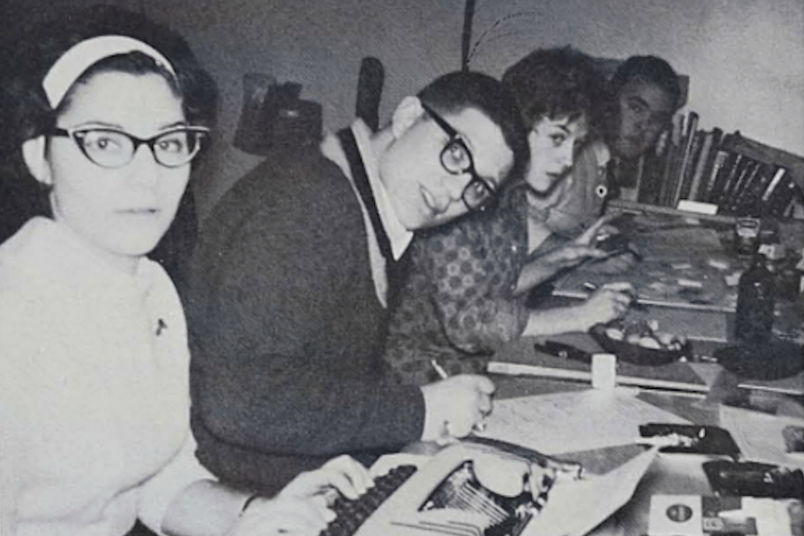 uOttawa medical students enjoy their time studying together in 1964.
