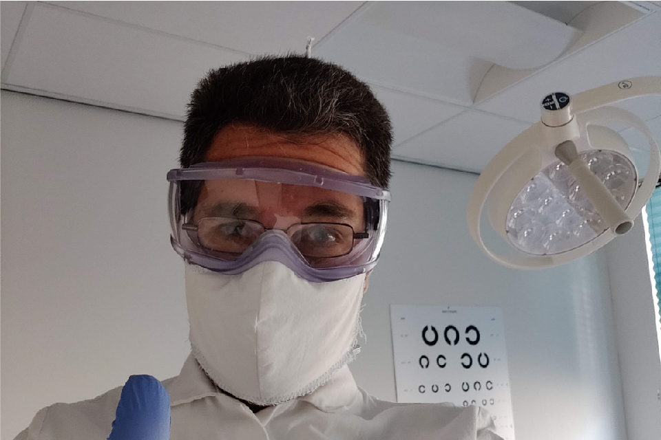 Dr. Robert Harris in medical PPE