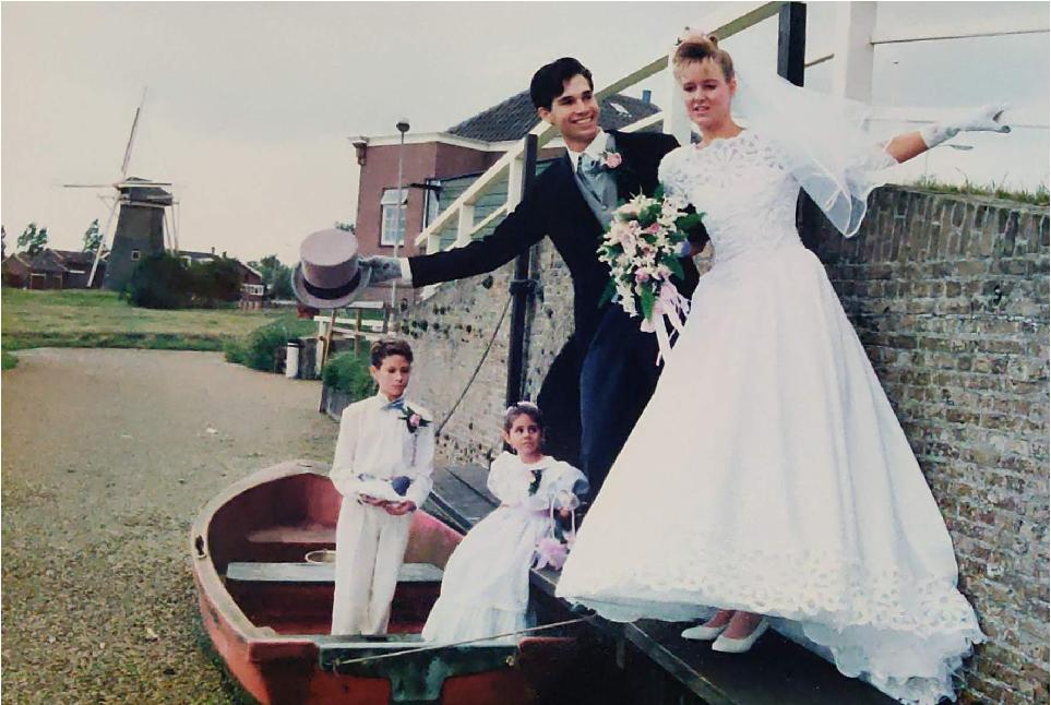 Robert Harris and his bride