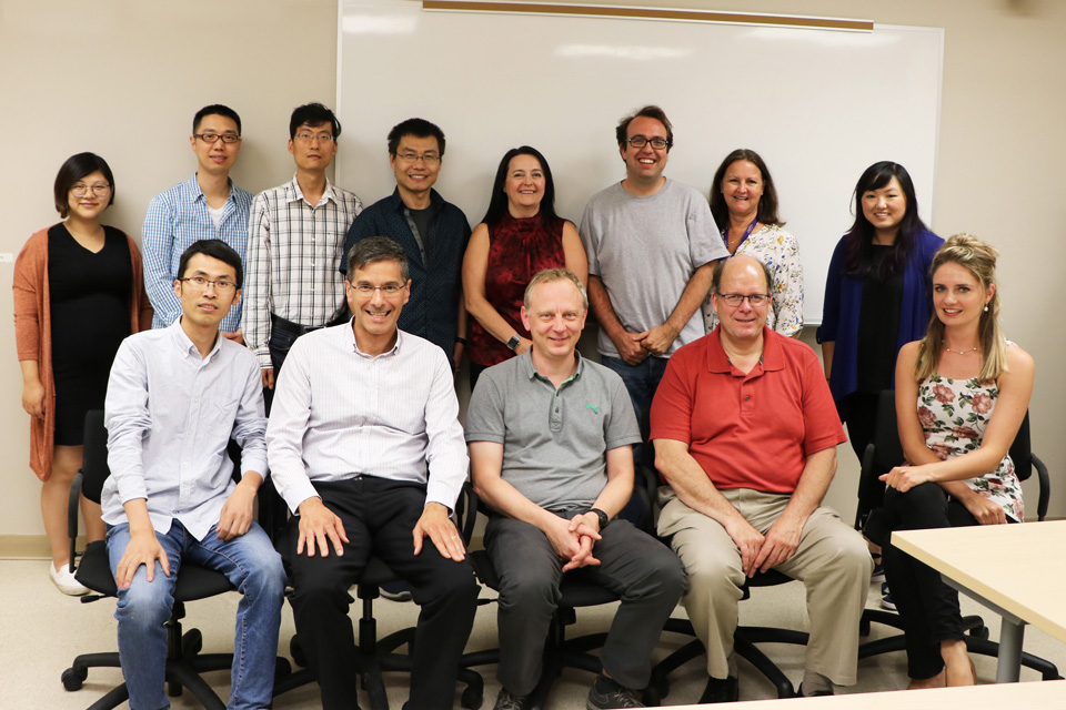 Photo of all of the authors of the paper in Nature Communications.