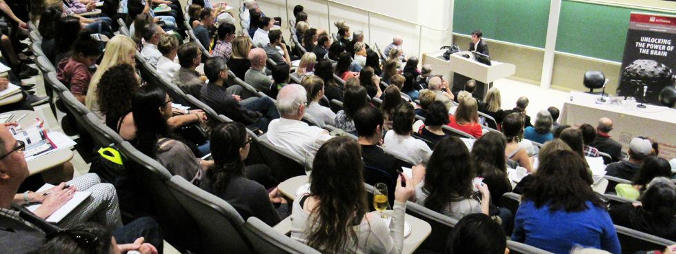 Photo of attendees at a Brain Health Awareness Week event.