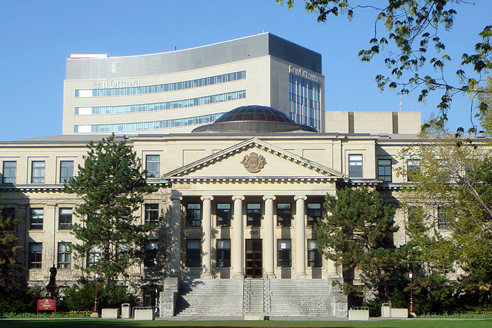 Photo of Tabaret Hall at the University of Ottawa.