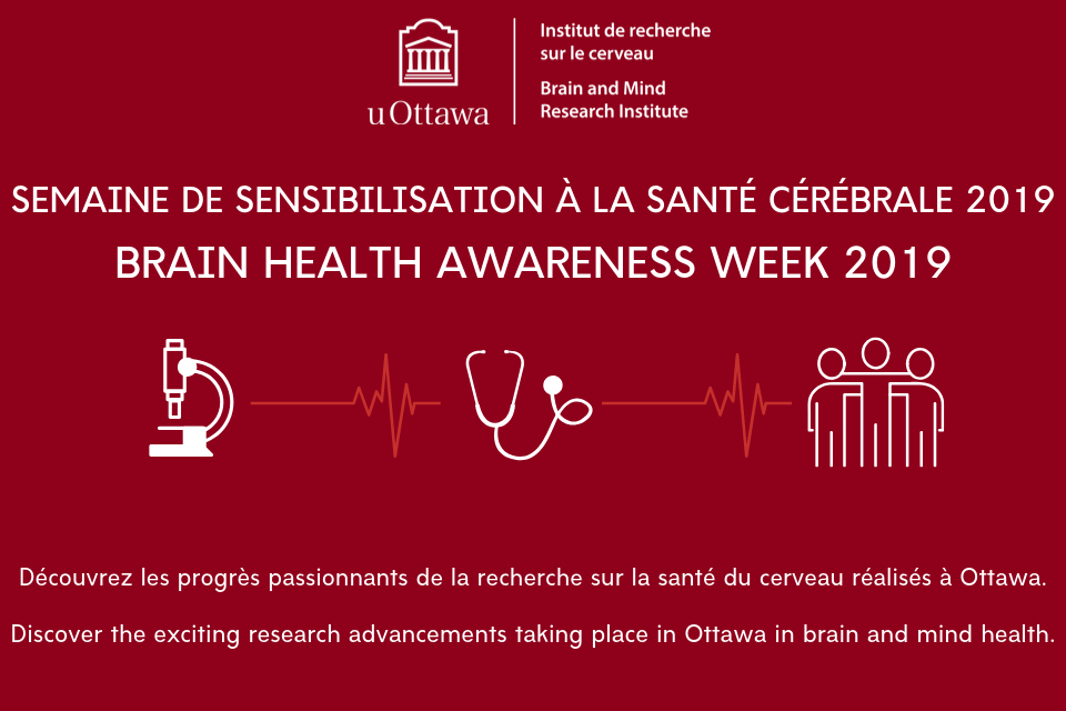 Brain Health Awareness Week 2019 - Discover exciting research advancements happening in Ottawa in brain and mind health.