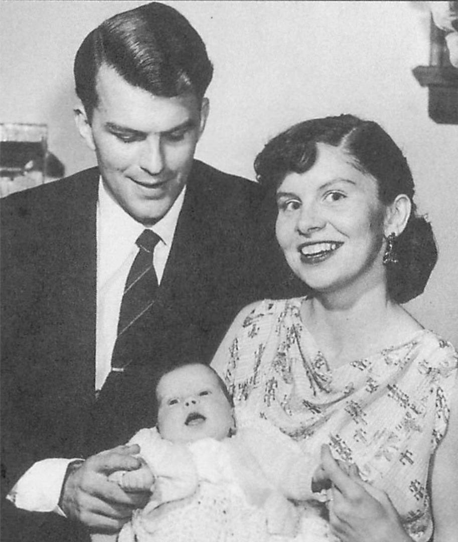 Photo of Doris Kavanagh-Gray, her husband John Gray and baby Cynthia.
