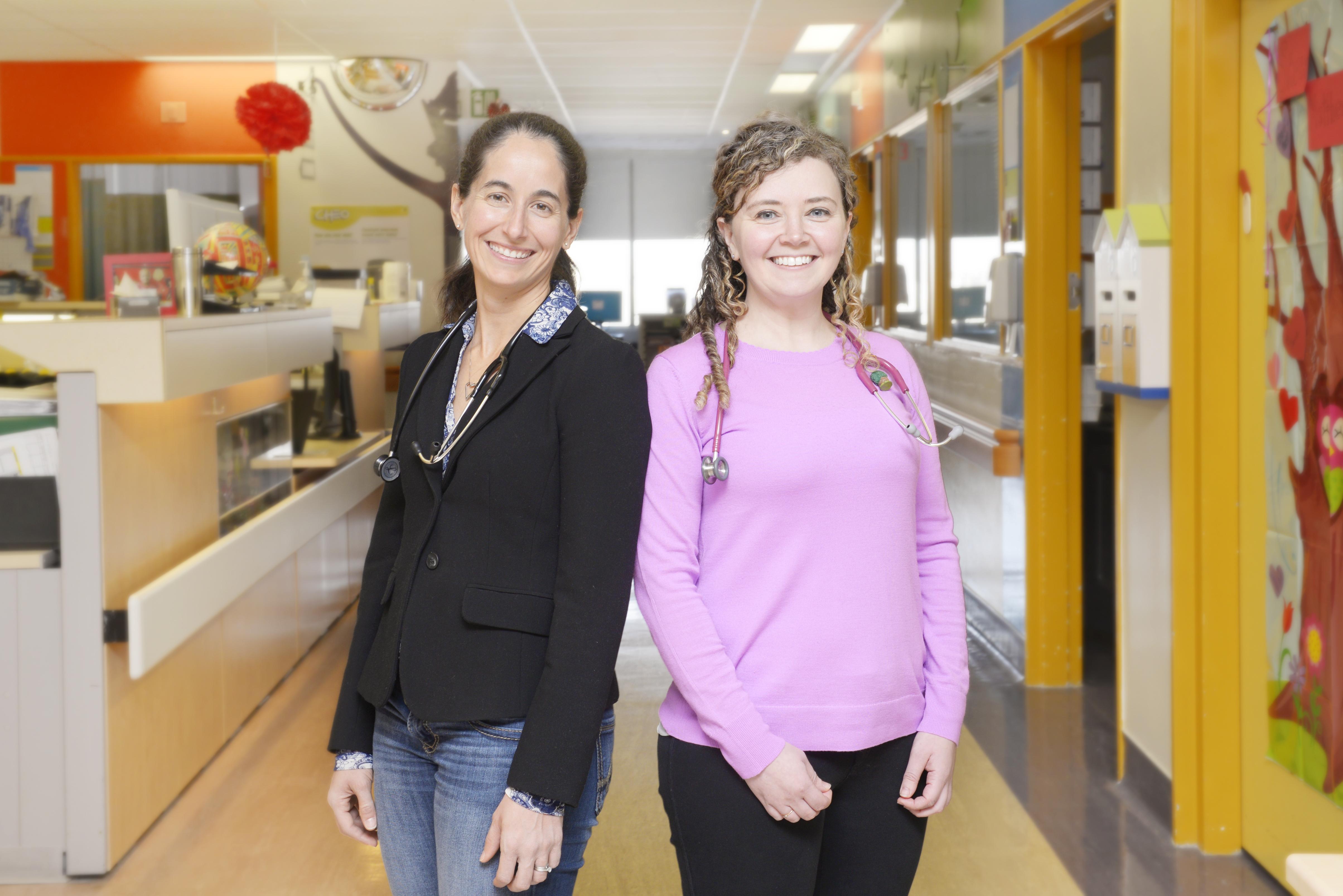 Dr. Catherine Pound and Dr. Victoria Gelt