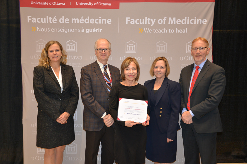 Photo of Dr. Clare Liddy, Dr. Paul Hendry, Dr Millaray Sanchez Campos, Dr. Heather Lochnan and Dr. Bernard Jasmin.