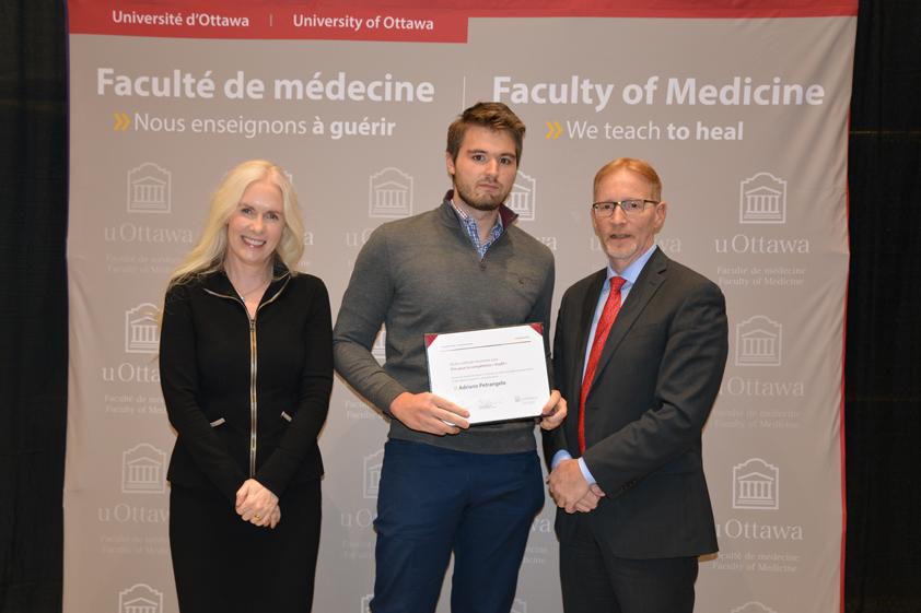 Photo of Dr. Melissa Forgie, Adriano Petrangelo and Dr. Bernard Jasmin.
