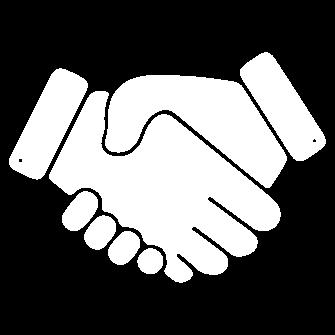 Icône graphique représentant une poignée de mains.