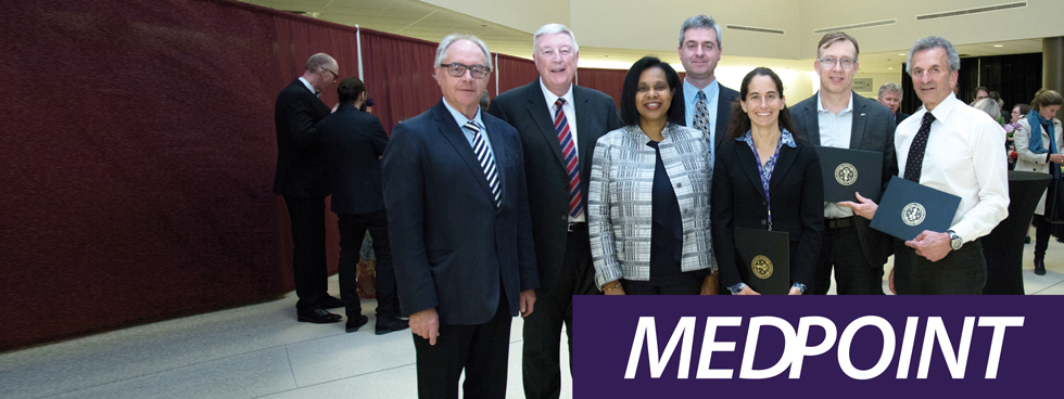 Dr Jean Michaud, Dr Ciaran Duffy, Dre Sharon Whiting, Dr Franco Momoli, Dre Catherine Pound, Dr Stephen Feder.