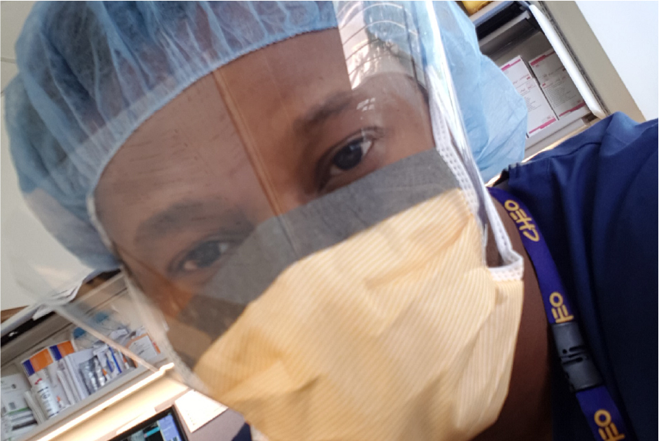close-up on the face of surgeon Dr. Karry Felix