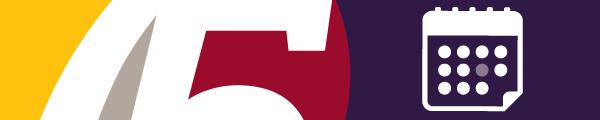 Calendrier des événements et le logo du 75eme anniversaire