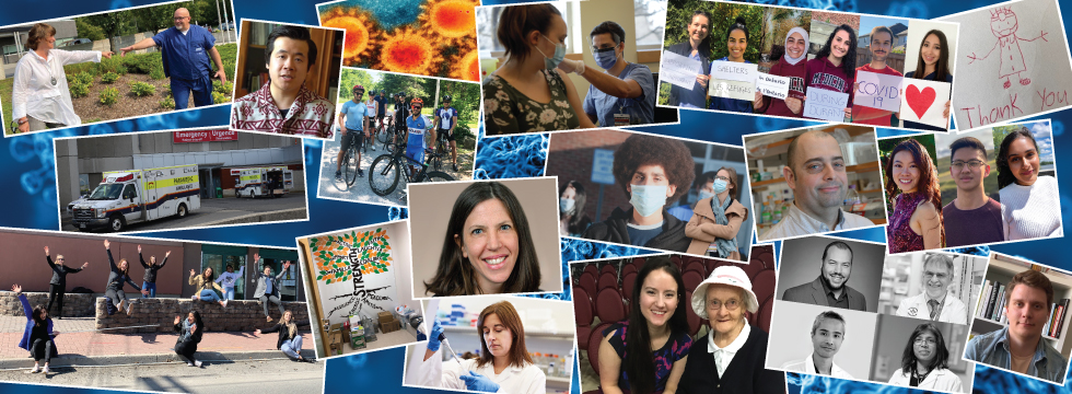 Photo collage of Faculty of Medicine community members who have been involved in our fight against coronavirus disease.