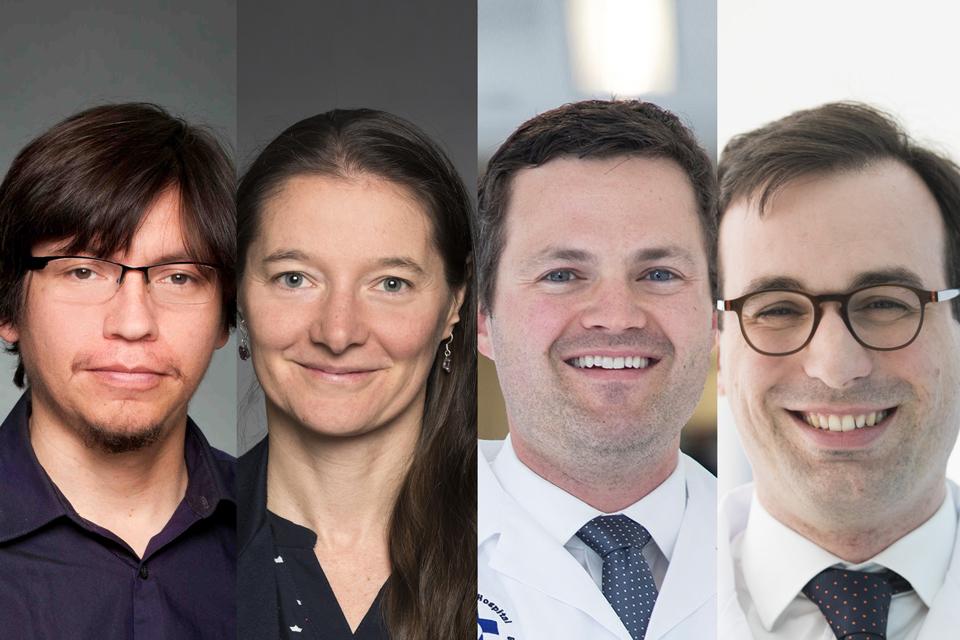 Drs. Emilio Alarcon, Marceline Côté, Tiago Mestre and Daniel McIsaac