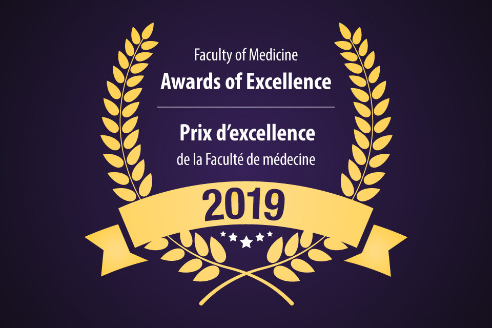 graphic with Faculty of Medicine awards of Excellence