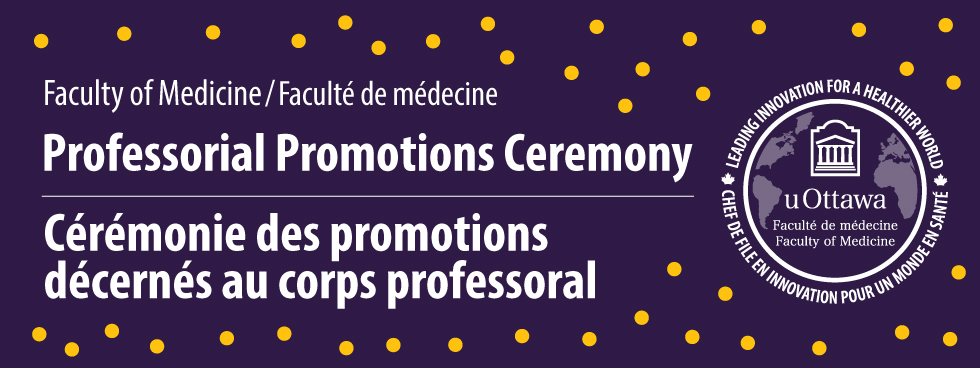 Graphic that says Professorial Promotions Ceremony