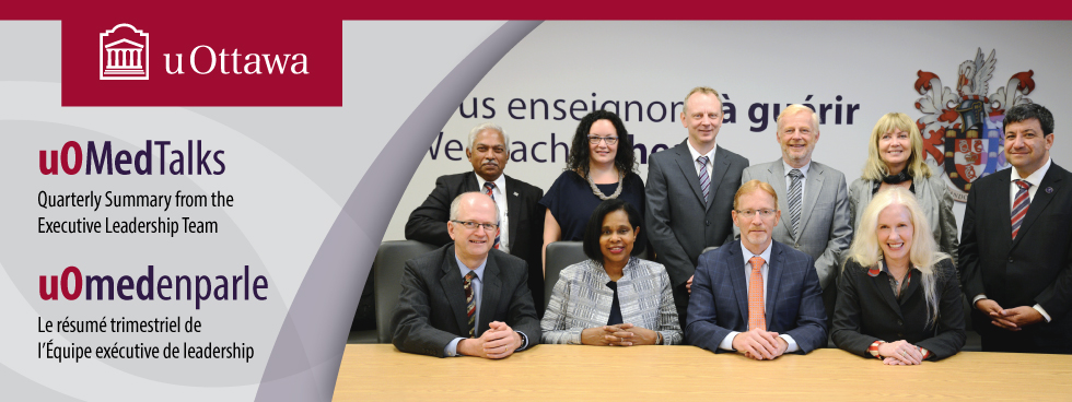 Photo of the Faculty of Medicine's Executive Leadership Team.