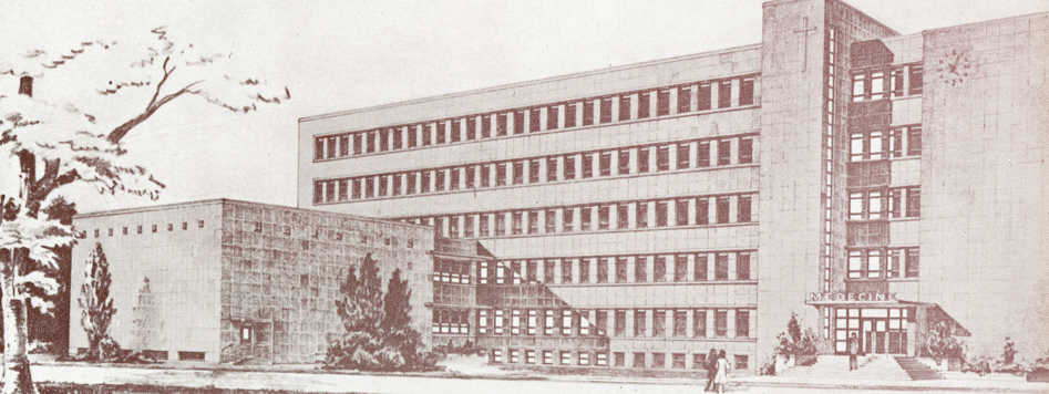 An old photo of the uOttawa medical building.