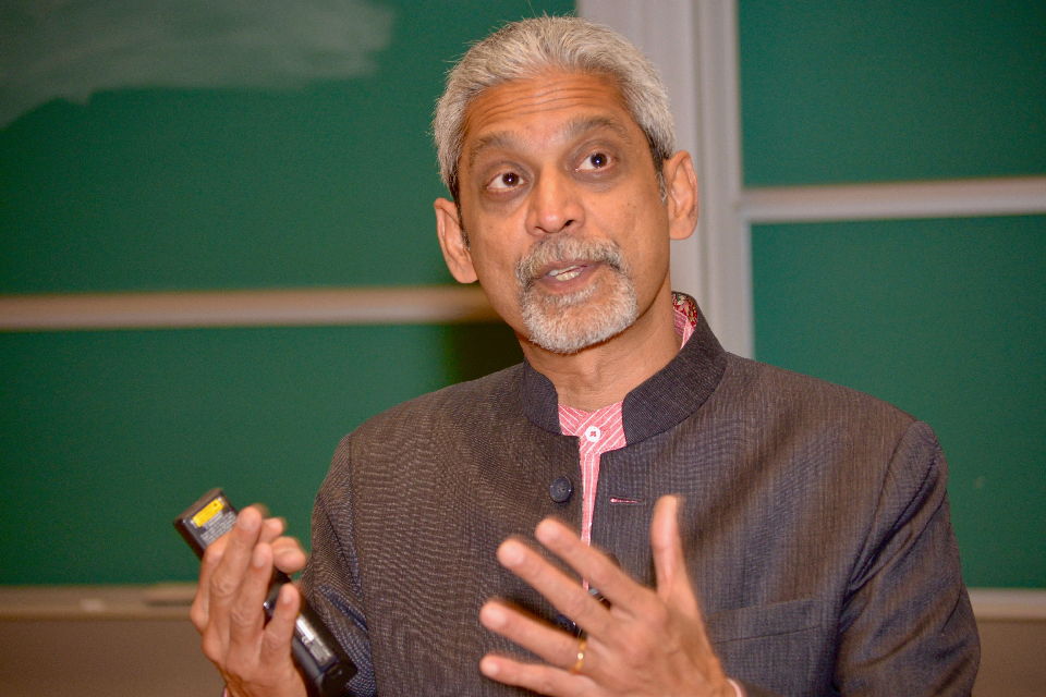 Dr. Vikram Patel gives a lecture