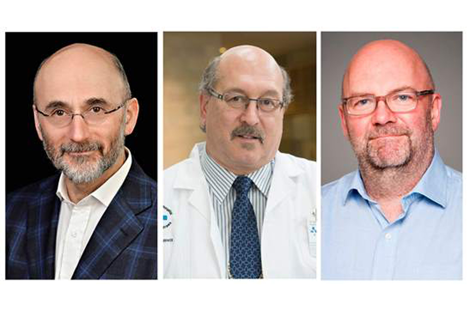 Photo de Dr Mark Freedman, Jeremy Grimshaw, Ph. D. et David Moher, Ph. D.