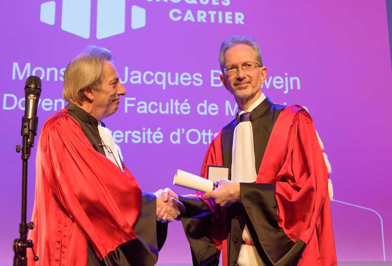 François Noël Gilly , President of Lyon 1 and Jacques Bradwejn