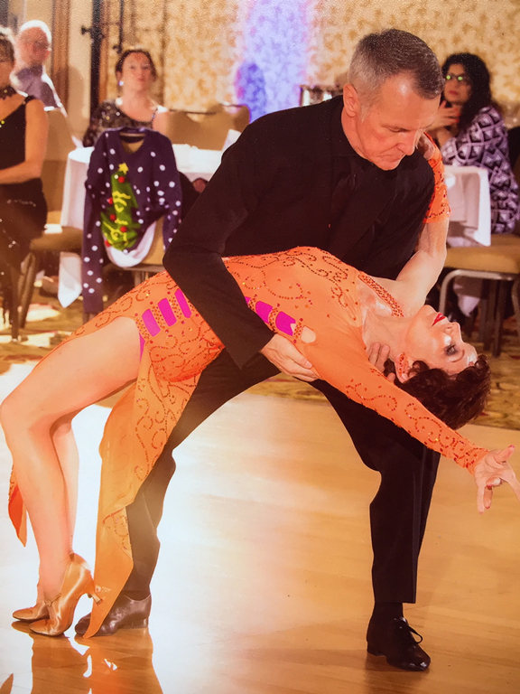 A man and a woman dancing the tango