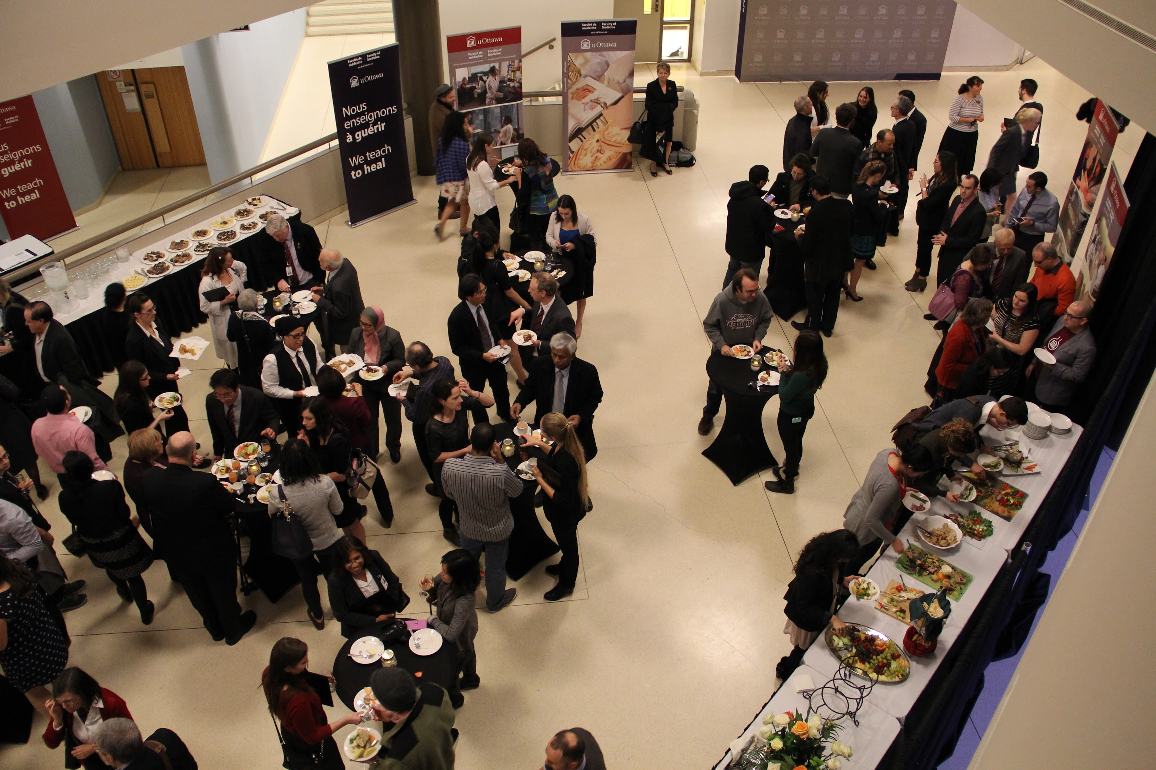 Photo of the reception after the awards ceremony