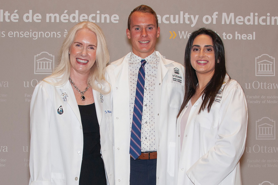 Kevin Roy at his MD White Coat Ceremony in 2019.