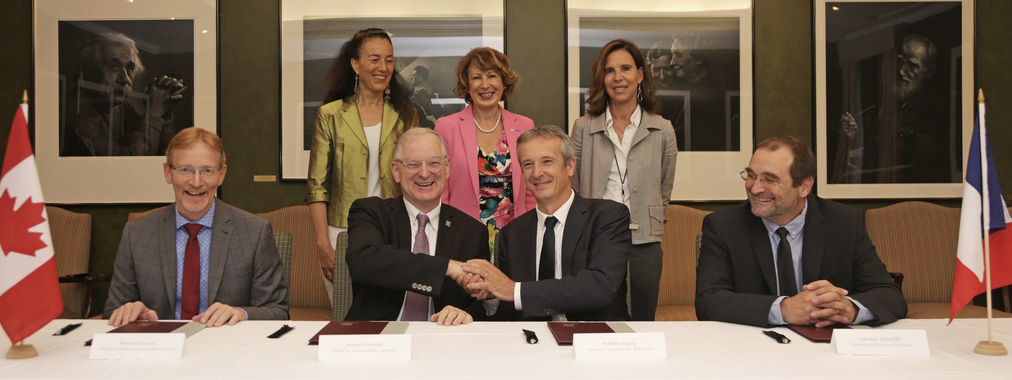 The University of Ottawa Faculty of Medicine and Université Claude Bernard Lyon 1 sign a joint international neuromuscular research partnership.