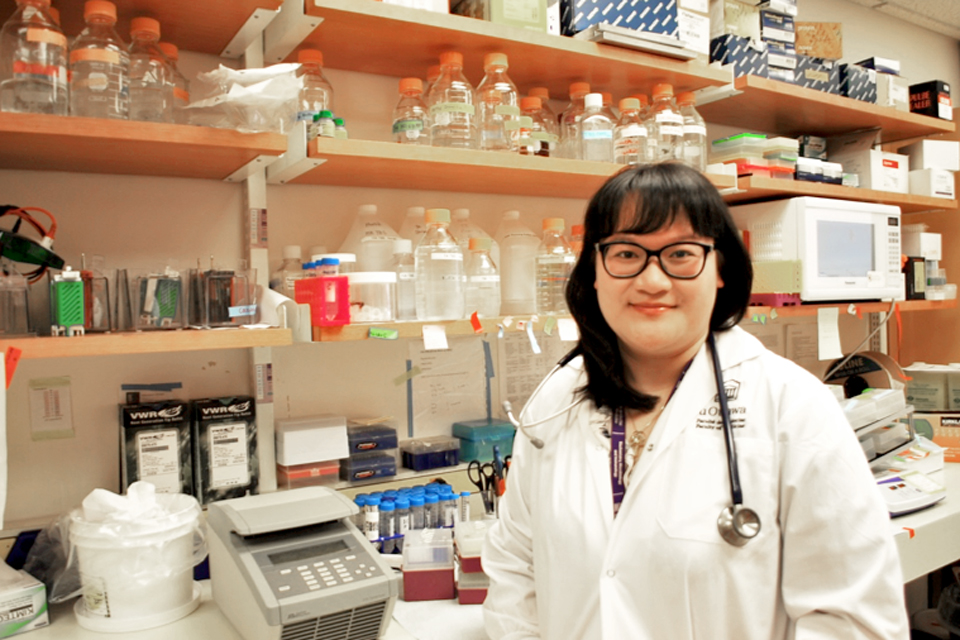 Melissa Phuong pictured  in the Subash Sad lab.