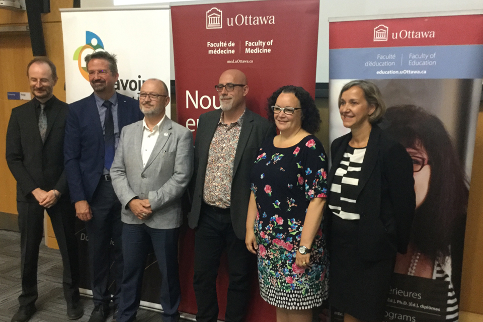 Dr Richard Barwell, Dr Jean Roy, Dr André Bilodeau, Dr Eric Dionne, Dre Manon Denis-LeBlanc et Mme Suzanne Robichaud.