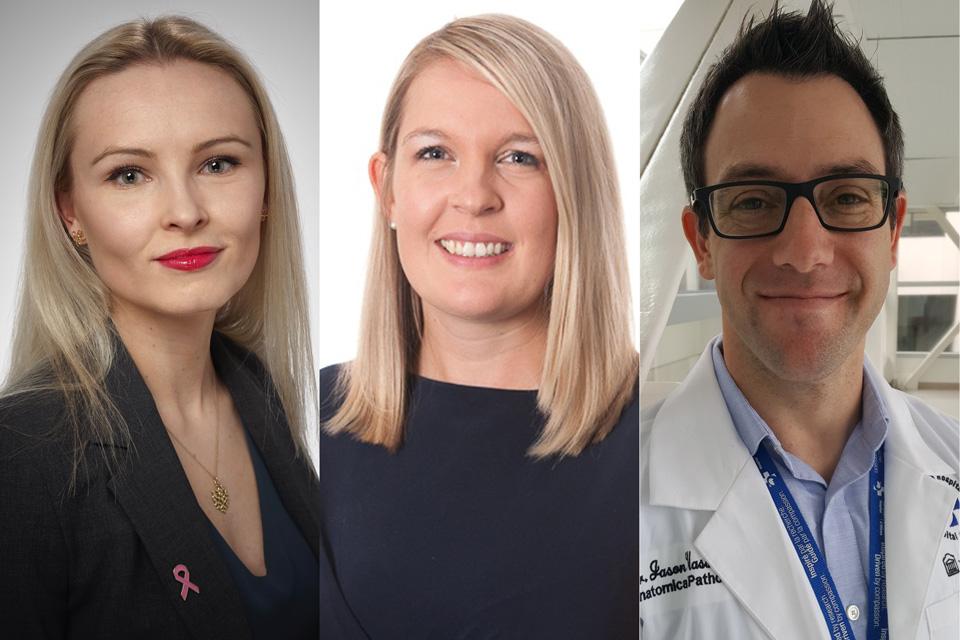 Dr. Zuzanna Gorski (PGY-1), Dr. Anthea Lafreniere (PGY-4) and Dr. Jason Wasserman